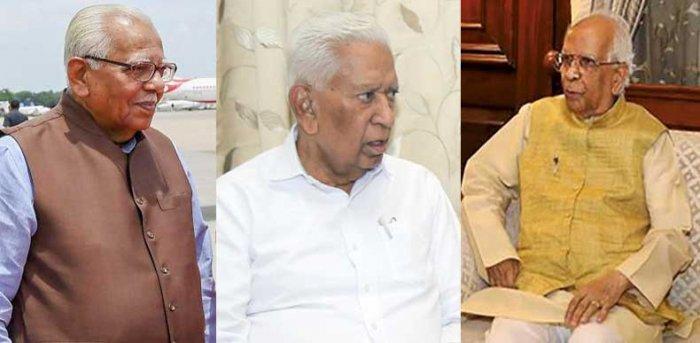 Ram Naik (Governor of Uttar Pradesh), Vajubhai Vala (Governor of the state of Karnataka) and   Keshari Nath Tripathi  (Governor of West Bengal).