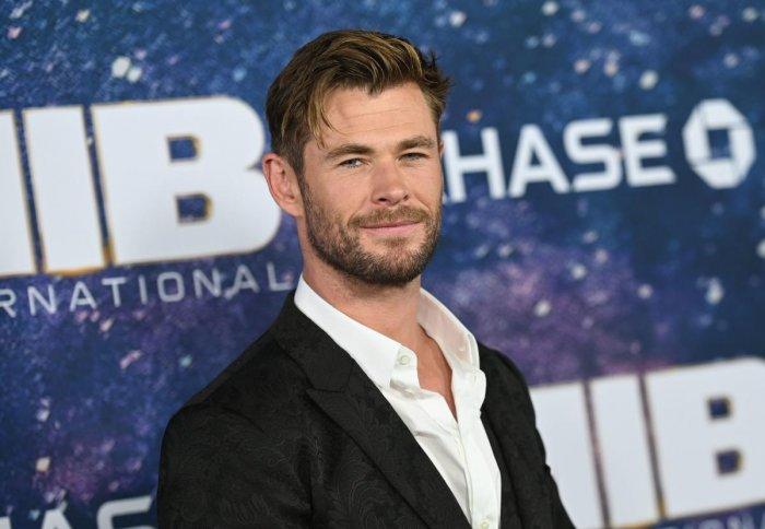 "Australian actor Chris Hemsworth attends the ""Men In Black: International"" premiere (Photo AFP)"