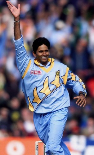 Venkatesh Prasad at the 1999 World Cup
