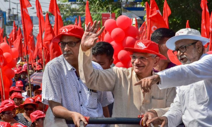 The CPM vote share is around 2%, down from 3.2% in 2014 and it has just three MPs this time, down from nine. (PTI File Photo)