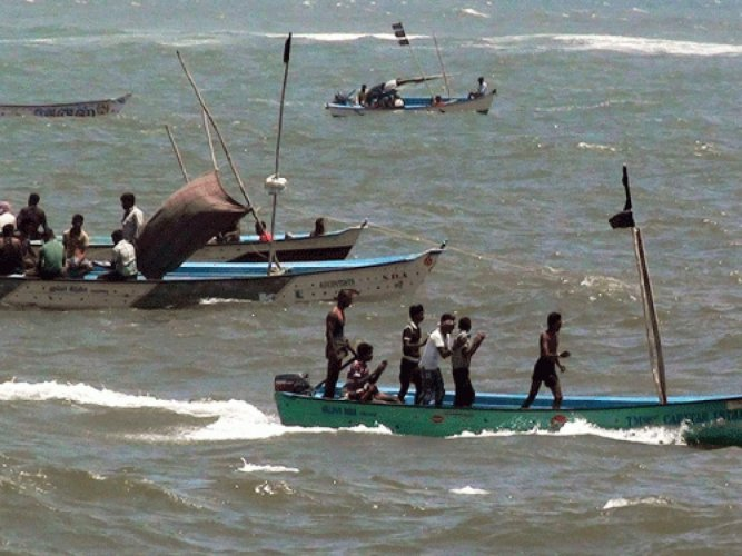 Sri Lanka Navy has arrested at least 18 Indian fishermen and seized three dhows (vessel) for allegedly poaching in the country's territorial waters. (PTI File Photo)