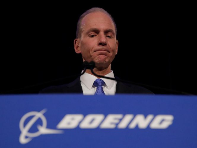 """Dennis Muilenburg told reporters in Paris that Boeing's communication with regulators, customers and the public """"was not consistent. And that's unacceptable."""" AFP file photo"""