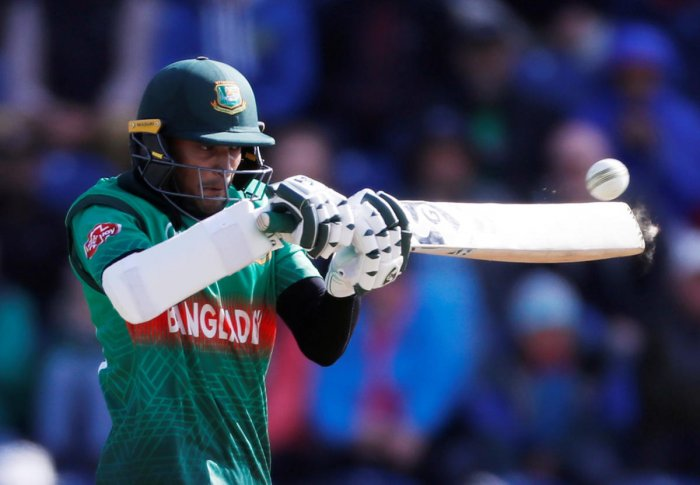 Cricket - ICC Cricket World Cup - England v Bangladesh - Cardiff Wales Stadium, Cardiff, Britain - June 8, 2019 Bangladesh's Shakib Al Hasan in action Action Images via Reuters/Paul Childs