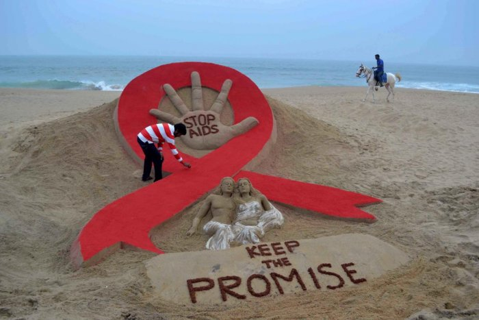 Maharashtra Health Minister Eknath Shinde Tuesday said over 2,400 people in the state have died of HIV infection in the past year. (AFP File Photo)