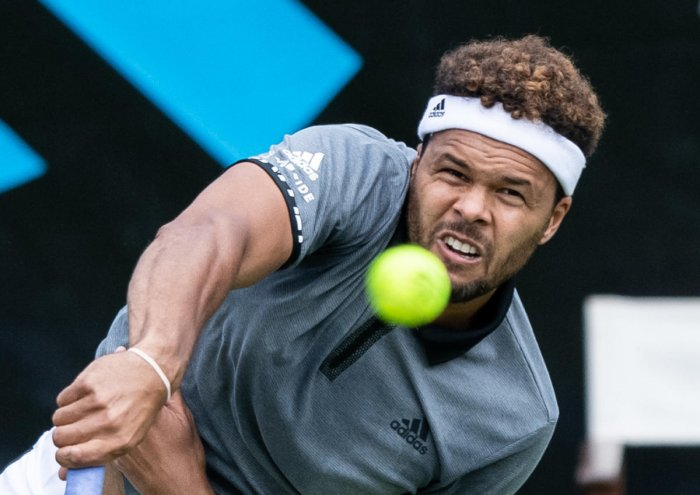 Jo-Wilfried Tsonga is likely to face Roger Federer in the second round of the ATP tournament in Halle. (AFP Photo)