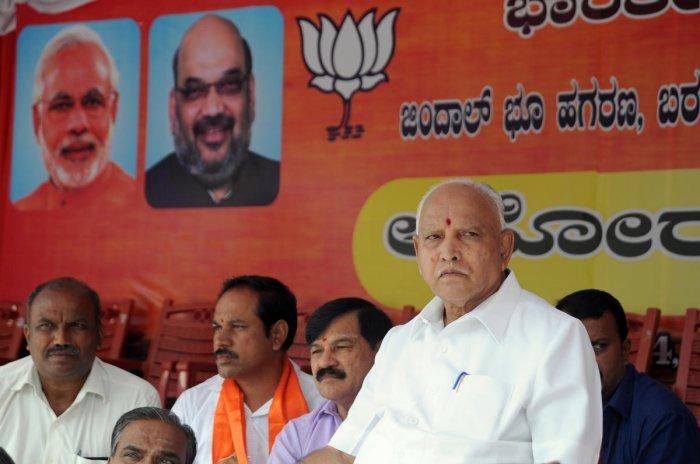 Karnataka BJP Chief BS Yeddyurappa (DH File Photo)
