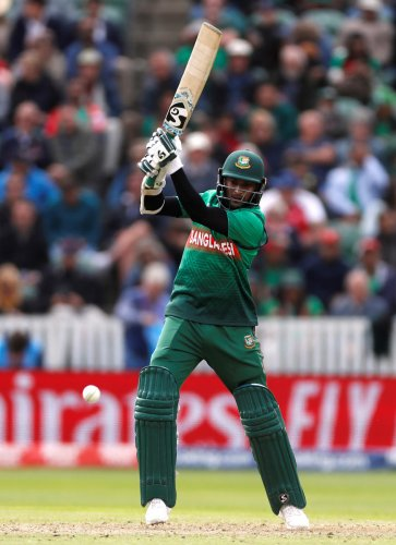 Cricket - ICC Cricket World Cup - West Indies v Bangladesh - The County Ground, Taunton, Britain - June 17, 2019 Bangladesh's Shakib Al Hasan in action Action Images via Reuters/Paul Childs