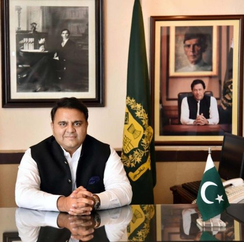 Science and Technology Minister Fawad Chau­dhry (Image courtesy Face Book))