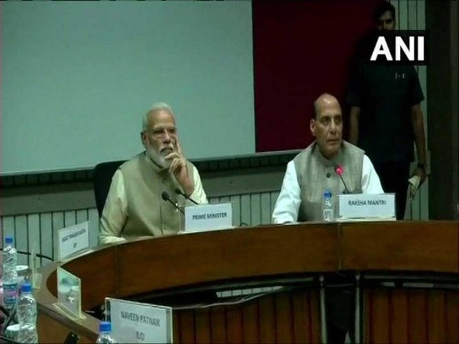 Modi has invited the presidents of all the political parties that have at least one member either in the Lok Sabha or in the Rajya Sabha to discuss the issue. (Image: ANI/Twitter)