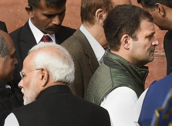 Prime Minister Narendra Modi and Congress President Rahul Gandhi. (PTI File Photo)