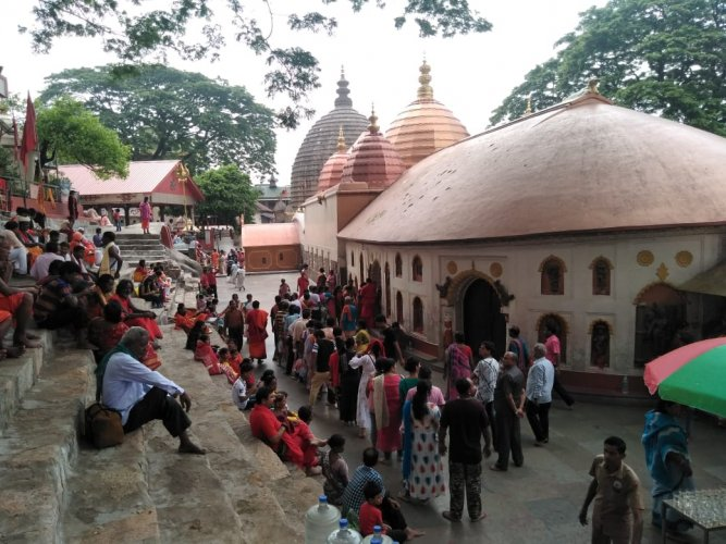 The ancient Kamakhya temple atop Nilachal hills in Guwahati