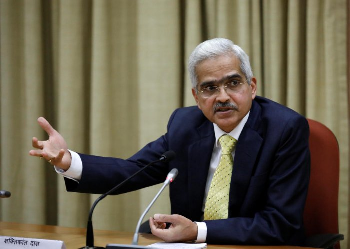 Reserve Bank of India (RBI) Governor Shaktikanta Das said he saw clear evidence of economic activities losing traction. (Reuters Photo)