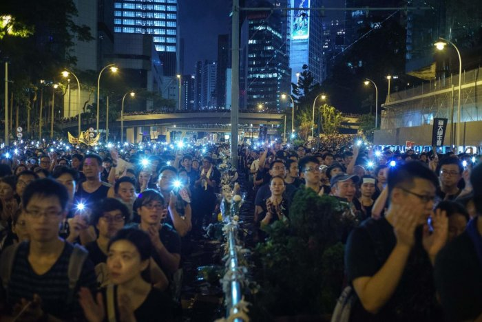 Hong Kong opposition groups on June 20 called for another major demonstration after the pro-Beijing government did not respond to demands of protesters who have shaken the city with massive rallies. (Photo AFP)