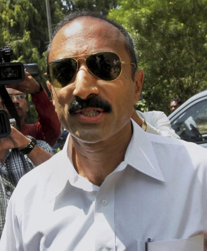Former IPS officer Sanjiv Bhatt arrives for an interrogation by the Justice Shah & Navati Commission in connection with 2002 Gujarat communal riots case in 2002, in Ahmedabad, Monday. Bhatt on Thursday was sentenced to life imprisonment in a 30-year-old custodial death case by the Jamnagar Sessions Court. (PTI Photo)