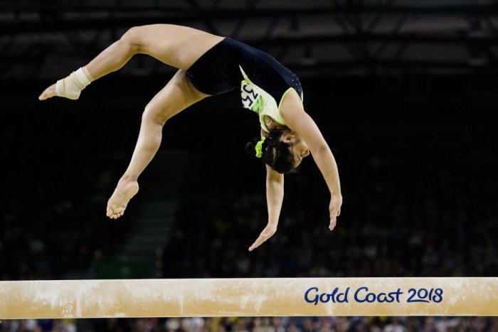 Indian gymnast Pranati Nayak clinched a bronze medal in the vault event at the Senior Asian Artistic Gymnastics Championships in Ulaanbaatar. (AFP File Photo)