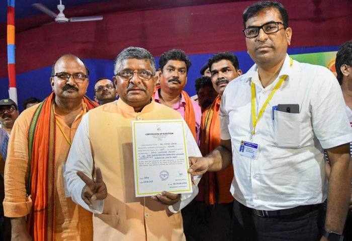 Union Minister Ravi Shankar Prasad getting back charge of telecommunications will help in expediting roll out of Digital Villages. (PTI Photo)