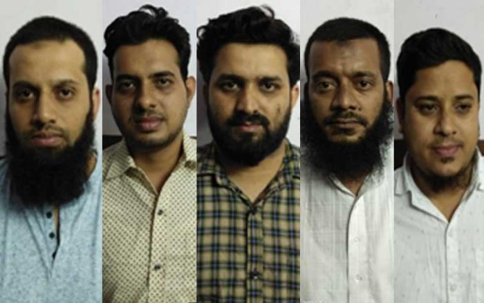 The five directors who were arrested on Friday.