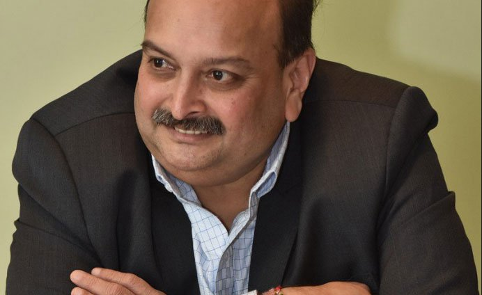 Choksi and his nephew Nirav Modi, who is currently in a London jail, are wanted by the ED and the CBI for allegedly defrauding the Punjab National Bank (PNB) to the tune of Rs 13,400 crore. (Image courtesy Twitter)