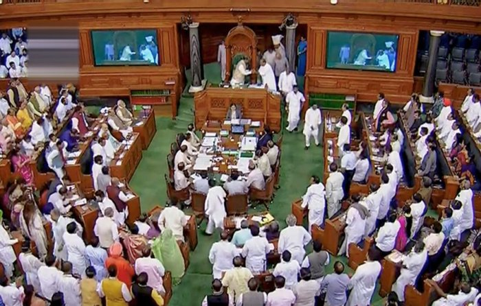 The Lok Sabha in session. Picture credit: PTI