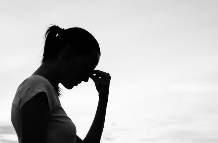 Sad young woman.pcod