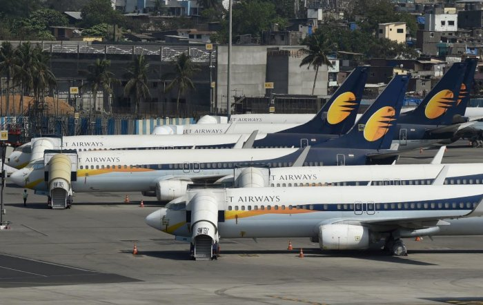 Jet Airways owes more than Rs 8,000 crore to banks, and thousands of crores more in arrears to vendors, lessors and employees. AFP file photo