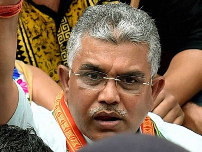 Dilip Ghosh said the law and order situation in the state is in complete shambles and democracy in the doldrums. PTI file photo