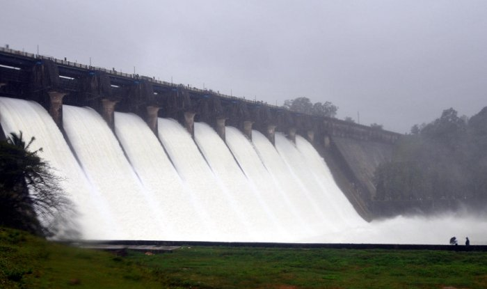 Water is released from the Linganamakki dam in Shivamogga Distrist. DH Photo/S K Dinesh