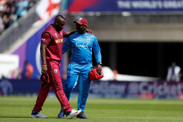 Andre Russell's exit from the World Cup will serve as a big setback for West Indies. Photo credit: Reuters