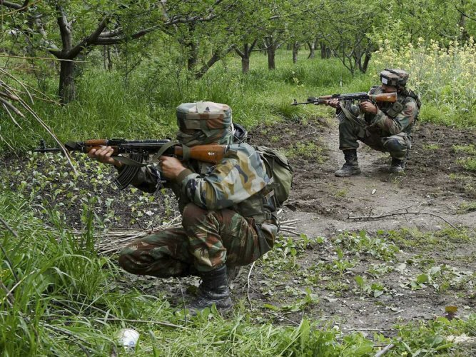 Security forces launched a cordon and search operation in the Branpatri forest area of Tral on Wednesday morning. PTI File photo for representation.