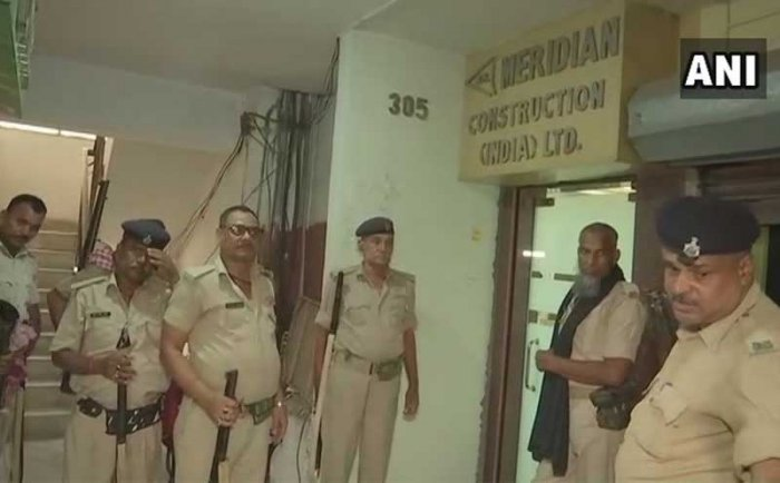 Income Tax Department conducts raids at RJD MLA Abu Dozana's office in Patna. ANI.