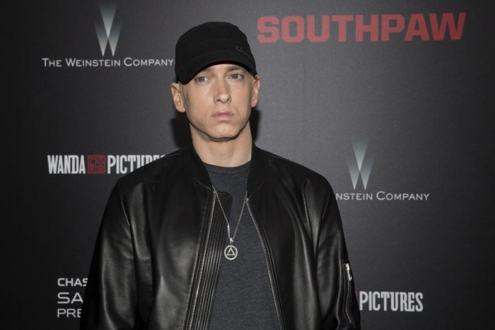 Eminem, whose real name is Marshall Mathers III, had a well-documented, troubled history with his father, whom the rapper has said he never met. (Reuters File Photo)