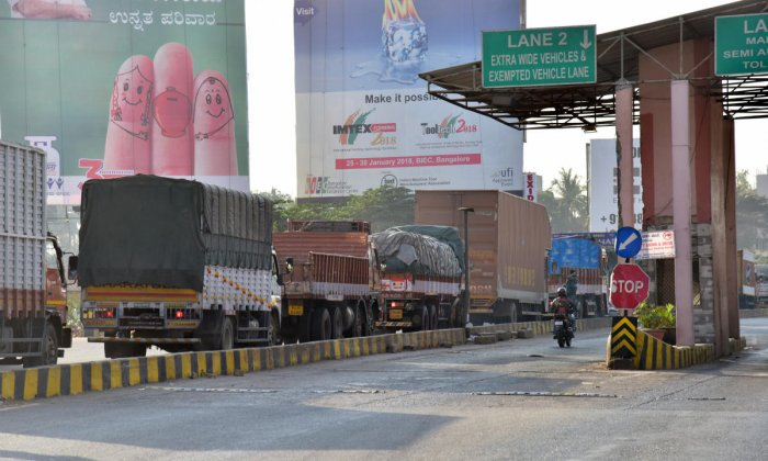 Earlier, an e-way bill once generated, was valid for 24 hours up to 100 km. This was amended and the e-way bill is now valid till midnight of the day immediately following the day of generation, instead of 24 hours. DH file photo