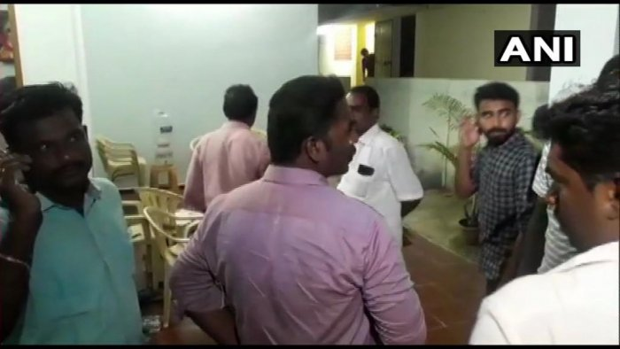 I-T Dept conducts raids at house where DMK candidate Kanimozhi is staying, in Thoothukudi. ANI/Twitter