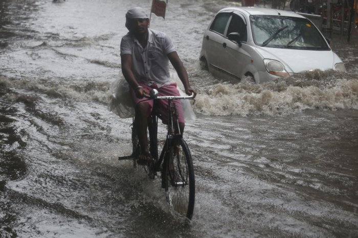 Heavy rains caused water-logging in several parts of Nashik city, including Saraf Bazar, near Mayor's official residence, Gangapur Road and Old Agra Road, disrupting normal life. (Reuters Photo)