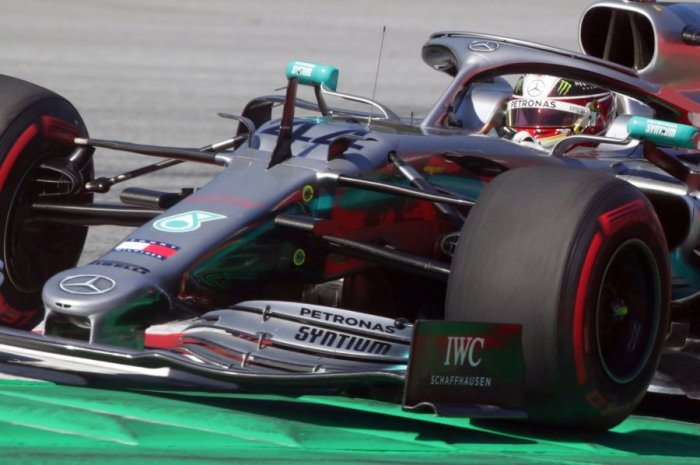 Lewis Hamilton in action during Friday practice for the Austrian Grand Prix. Picture credit: Reuters