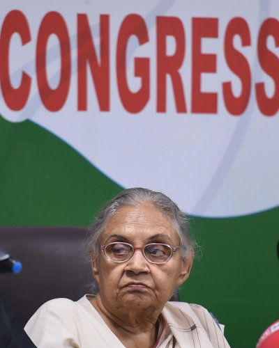 However, Dikshit, taking cognizance of a report by a committee formed by her to probe the party's debacle in recent Lok Sabha polls, dissolved all the block committees hours after meeting Rahul. (PTI File Photo)