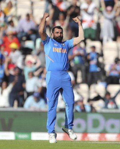 The Indian bowling attack comprising Mohammad Shami (in pic), Jasprit Bumrah, Bhuvneshwar Kumar, Kuldeep Yadav, Yuzvendra Chahal and all-rounder Hardik Pandya has consistently delivered the goods to make the nation a strong