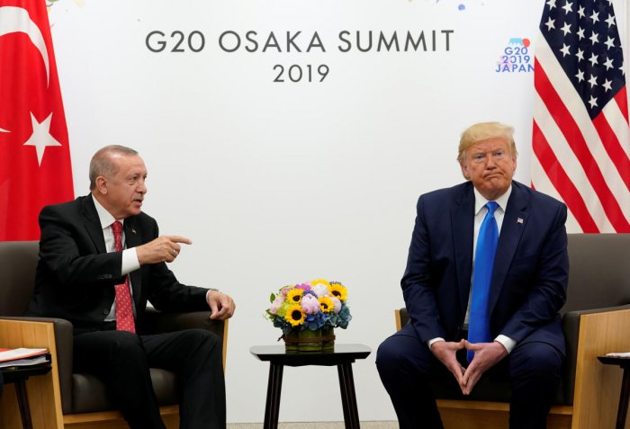 Trump reiterated the position in talks with President Recep Tayyip Erdogan in Japan's Osaka where the G20 summit is being held. (Reuters Photo)