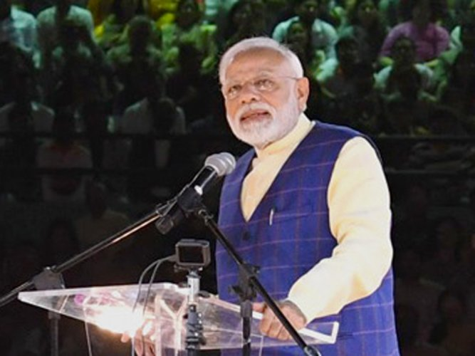 In the first address in the second edition of monthly radio address 'Mann ki Baat', the prime minister also said 'one size fits all' approach is not required in water conservation. (Image courtesy Twitter/@PMOIndia)