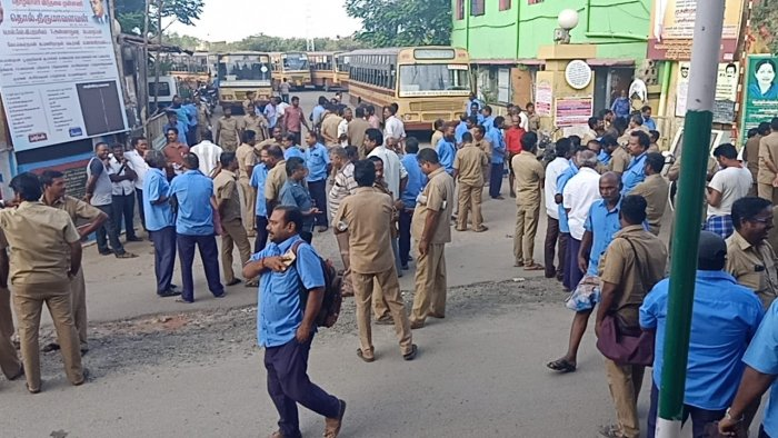 Transport corporations in Tamil Nadu are heavily debt-laden and don't pay dues to employees who retire or take VRS on time