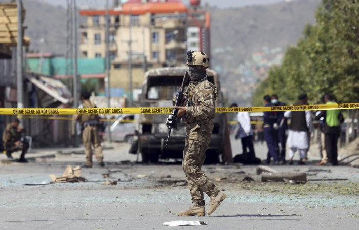 A large blast rocked the diplomatic district of Kabul on Monday, sending a plume of black smoke over the Afghan capital. (PTI File Photo)