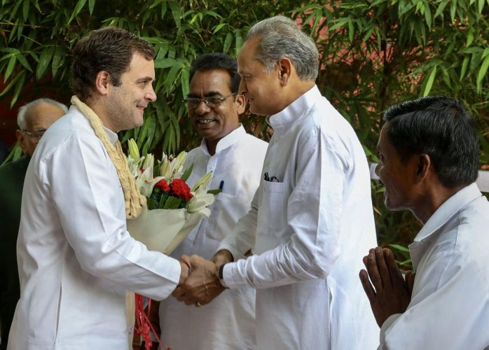 Gehlot said despite all odds it is no secret how amidst opposition only Gandhi did his best to make it an issue-based election and took the BJP head on. (PTI File Photo)