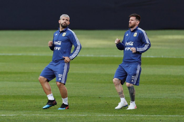 Argentina forwards Lionel Messi and Sergio Aguero will have to sweat if they're going to break down Brazil's watertight defence in their Copa America semi-final, says Selecao striker Gabriel Jesus. (Reuters File Photo)