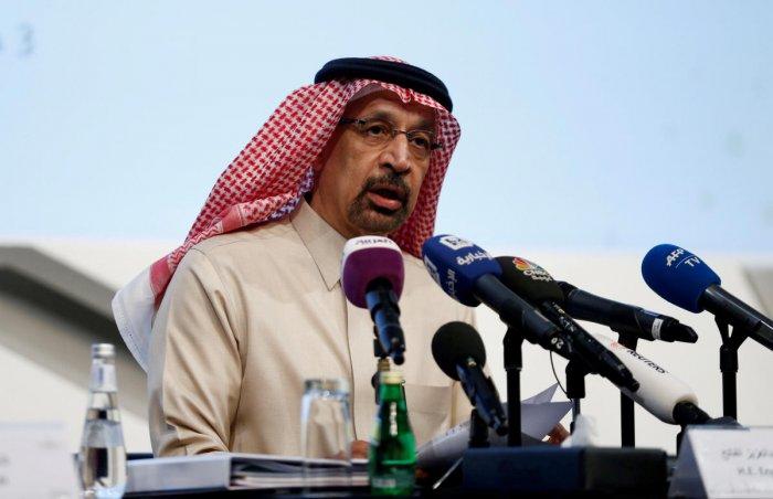 Saudi Energy Minister Khalid al-Falih speaks during a news conference in Riyadh, Saudi Arabia January 9, 2019. Reuters file photo