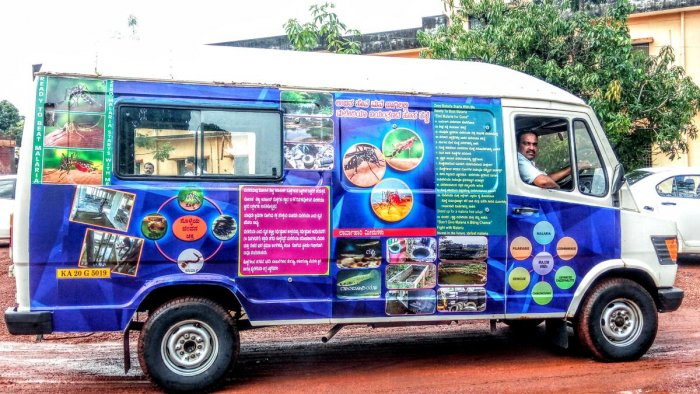 An 'info-ambulance' van will create awareness among people about water-borne diseases like malaria.