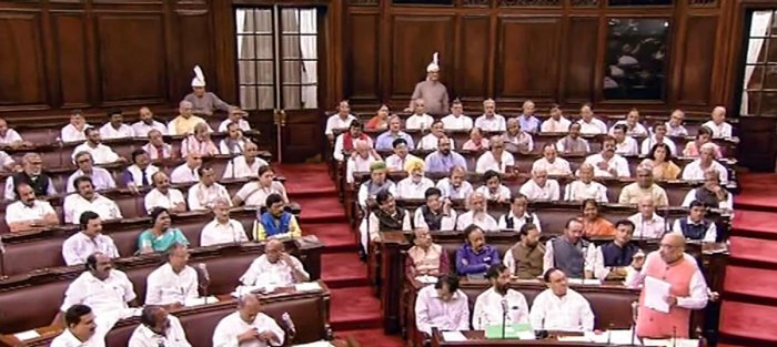 The members were participating in a debate on the statutory resolution to extend President's rule in J-K by another six months with effect from July 3, 2019, which was approved by Lok Sabha on Friday. (PTI File Photo)