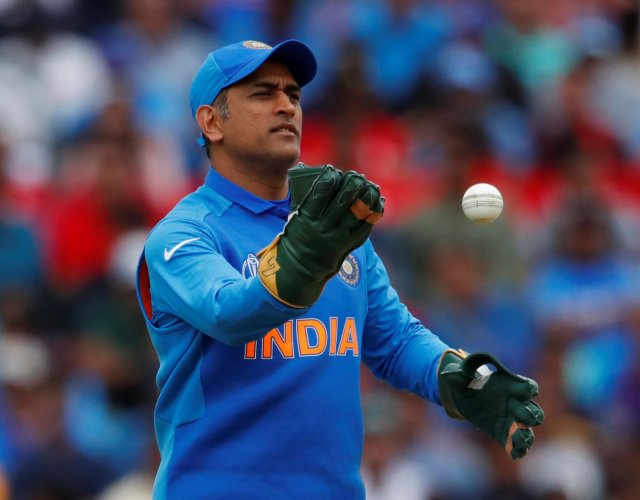 MS Dhoni is enduring a miserable time in this World Cup. Photo credit: Reuters
