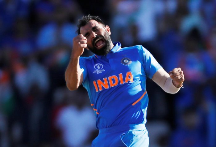 File photo of India's Mohammed Shami celebrating against Afghanistan. Photo credit: Reuters