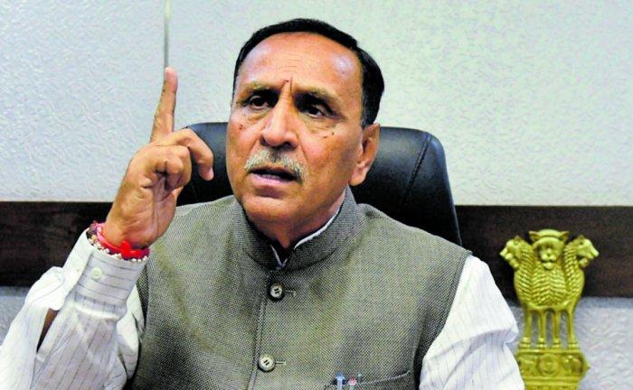 Gujarat Chief Minister Vijay Rupani (PTI Photo)
