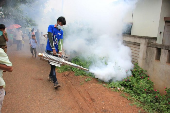 During monsoon, the BBMP engages gangmen to spray larvicide to control mosquito larvae in the CBD.